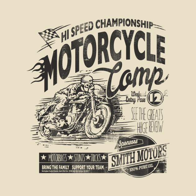 motorcycle camp statement t shirt