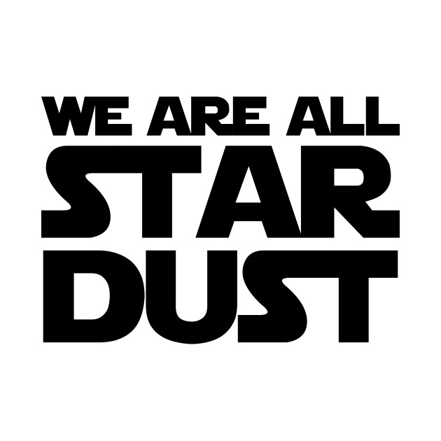 We're all nothing but star dust, just galaxy debris with no rhyme or reason.