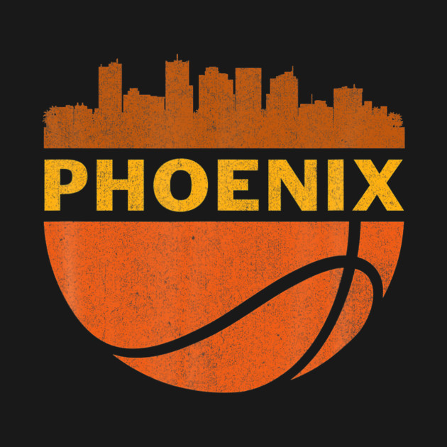 Featuring a cool distressed Phoenix skyline on a basketball, this makes a great Christmas, birthday or anniversary present for fans who love the city, basketball and slam dunks. Represent your town in the best Phoenix is home design!