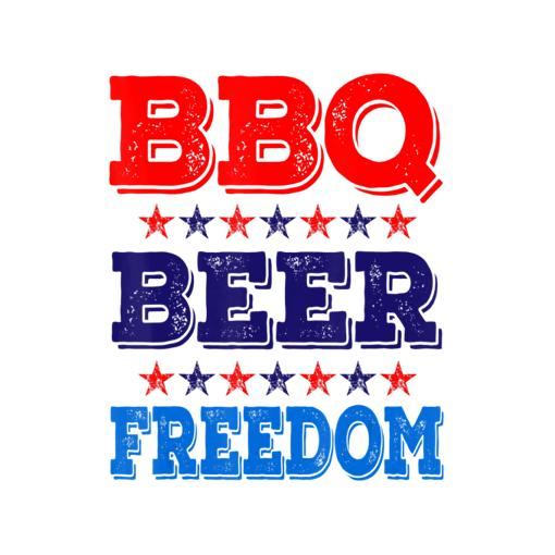 BBQ Beer Freedom America USA Party 4th of July Summer Gift T-Shirt