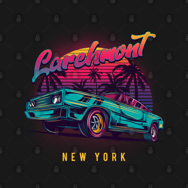 Larchmont New York Retro Vintage 80s 90s Muscle Cars Custom T-Shirts Unique Graphic T-Shirts, Hoodie, Crewneck, Long-sleeve, Baseball Tee, Onesie, Mug, Canvas, Tapestry, etc.