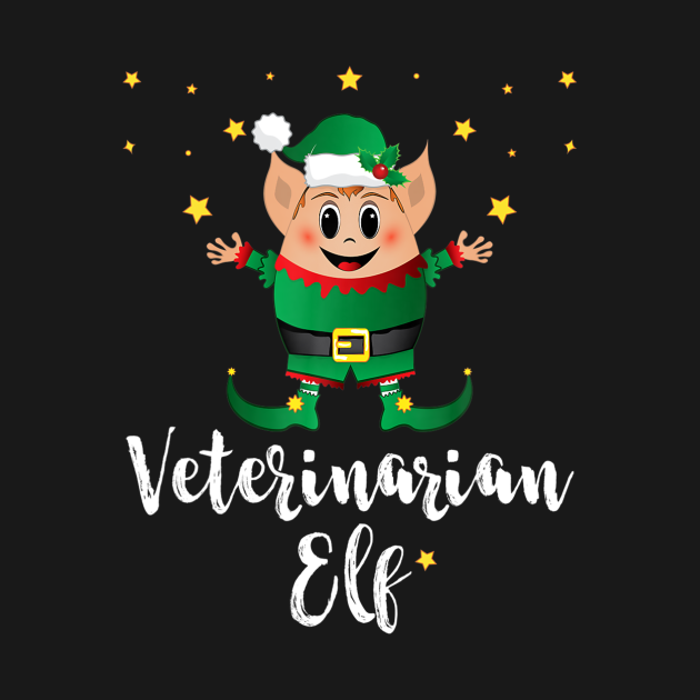 Greatest Matching Family Christmas Elves tee with saying Veterinarian Elf. Christmas elf gift idea for group, elf squad, elves, team, vet, veterinary surgeon, doctor, animal lover, women, men, him, her, kids, mom, dad, cousin, friend, family member