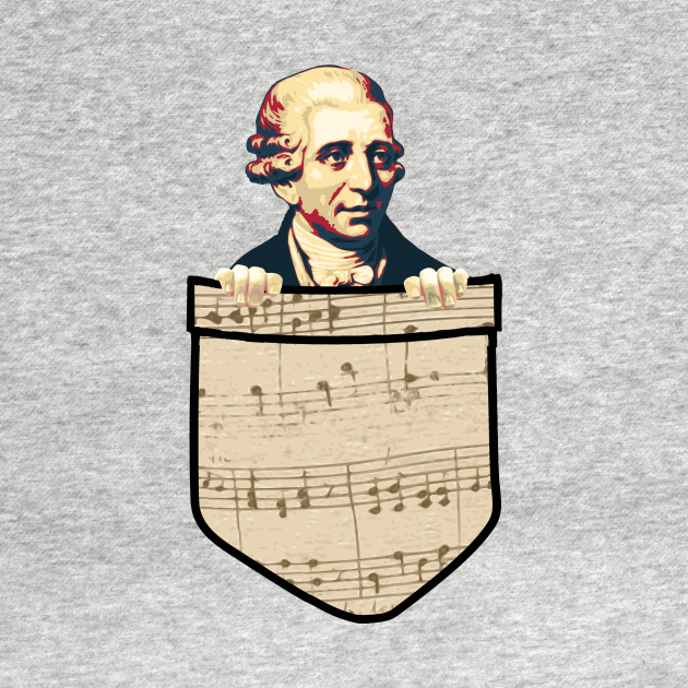 Joseph Haydn In My Pocket. Please note that this is a print and not a real pocket.