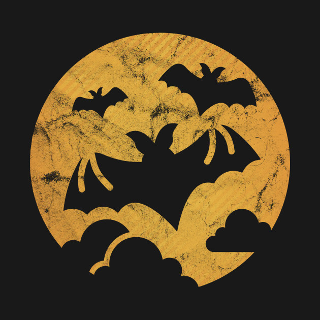 Let people know you love Halloween with your tee shirt. Whether you're looking for funny Halloween shirts, cute Halloween shirts, or Halloween costumes, you're covered with a Full Moon Bat t-shirt.