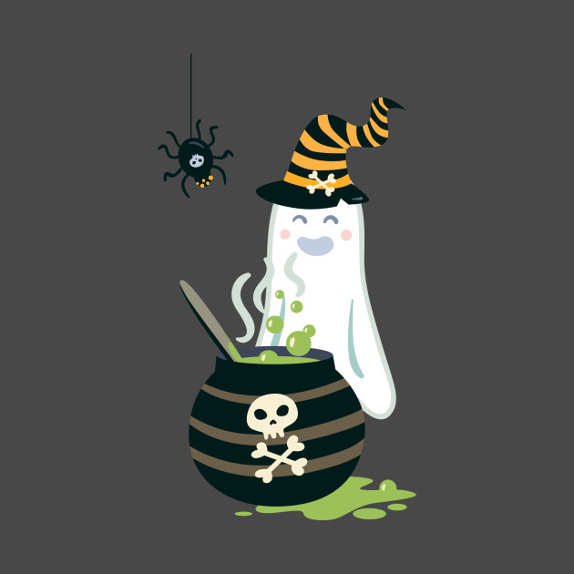 Halloween Ghost Spider Gift Scary Witch 2020 T-Shirt