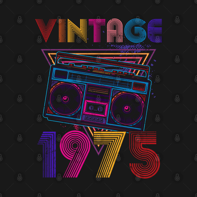 Best of 1975 Limited Edition, Celebrate your 45th birthday because you're a legend and vintage. This 1975 45th Birthday apparel makes a perfect gift ideas on 45th birthday.Vintage cassette reader Boombox Vintage 1975 birthday gifts for women and men.