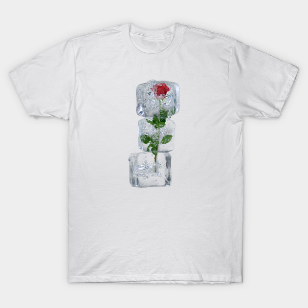 "Add more uniqueness to your personality with this awesome ""Icy Red Rose"" design.  Or give it as the perfect gift. Choose your color, gender, style and size below then Add to Cart to place your order."
