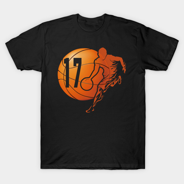 17th Birthday Tees Funny Basketball 17 Years Gifts