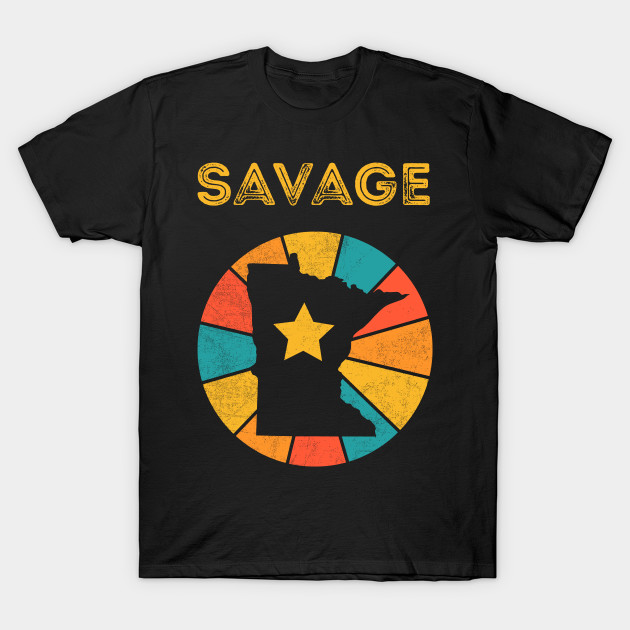 Savage Minnesota retro distressed design will be a great gift dor every city lover!